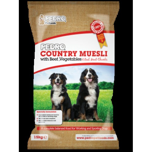 Pedro Country Muesli 15KG Dog Food